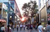 The approach into the Teramachi-dori shopping arcade